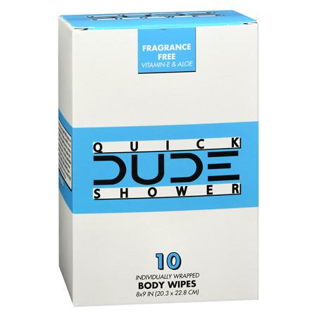 Dude Wipes Shower Wipes Singles - 10 ea