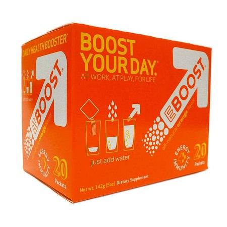 EBOOST Daily Health Booster Effervescent Powder Packets Orange - 0.25 oz.