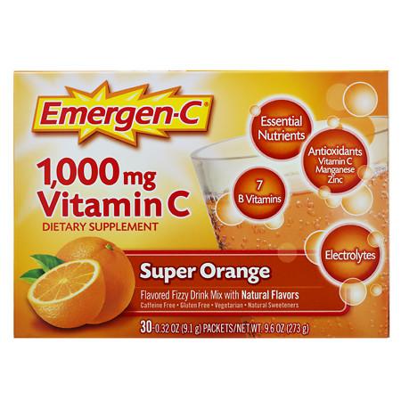 Emergen-C 1000 mg Vitamin C Dietary Supplement Fizzy Drink Mix Orange - 0.31 oz.