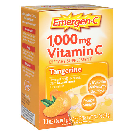 Emergen-C 1000 mg Vitamin C Travel Box Tangerine - 10 ea