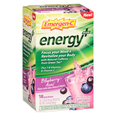 Emergen-C Energy Blueberry Acai - 18 ea