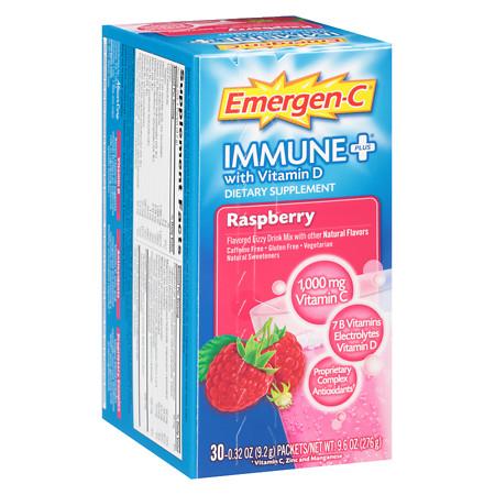 Emergen-C Immune+ Raspberry - 30 ea