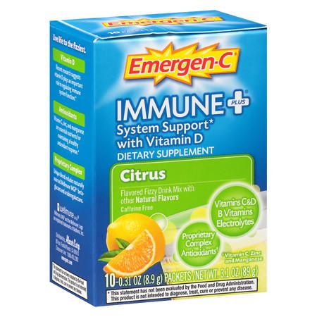Emergen-C Immune+ Travel Box Citrus - 10 ea