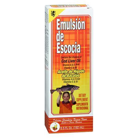 Emulsion De Escocia Cod Liver Oil StrawberryBanana - 6.5 oz.