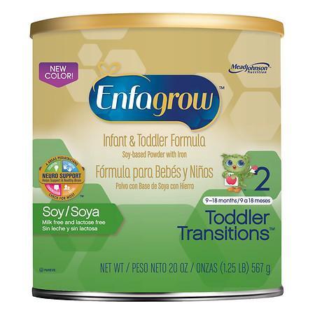 Enfagrow Toddler Transitions Powder Soy Stage 2 - 20 oz.