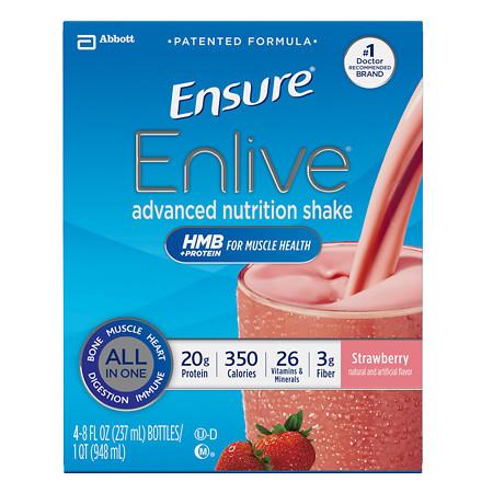 Ensure Enlive Advanced Nutrition Shake Strawberry - 8 oz.