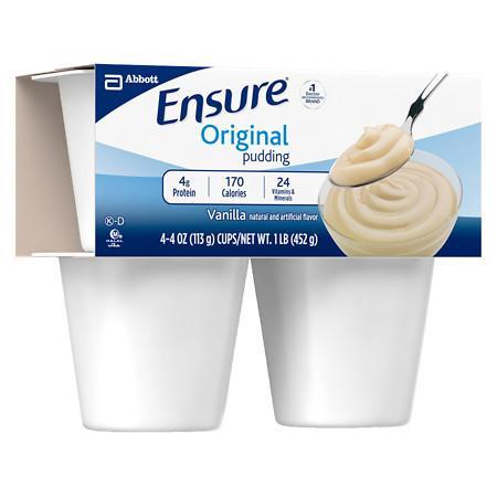 Ensure Nutritional Pudding, Homemade Vanilla Vanilla - 4 oz.
