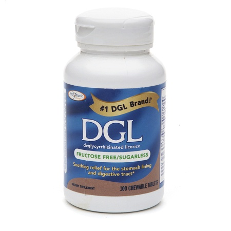 Enzymatic Therapy DGL Fructose Free Chewable Tablets - 100 ea