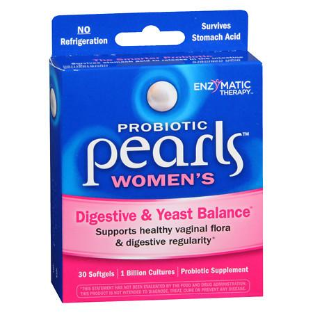Enzymatic Therapy Pearls YB Yeast-Balancing Probiotics, Capsules - 30 ea