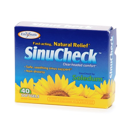 Enzymatic Therapy SinuCheck, Softgels - 40 ea