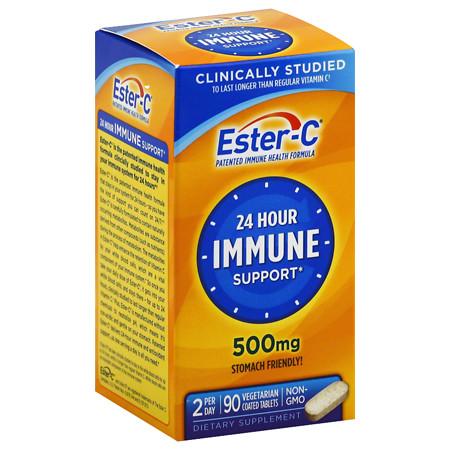 Ester C 500 mg Vitamin C Vitamin Supplement Coated Tablets - 90 ea