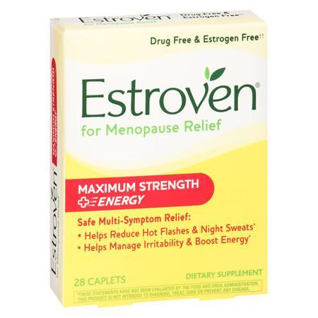 Estroven Menopause Symptom Relief Dietary Supplement Caplets - 28 ea