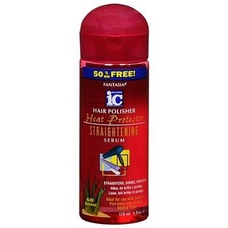 Fantasia IC Hair Polisher Heat Protector Straightening Serum - 6 oz.