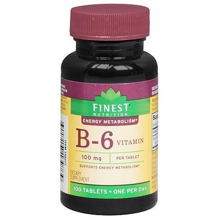 Finest Nutrition B-6 Vitamin 100 mg Dietary Supplement Tablets - 100 ea