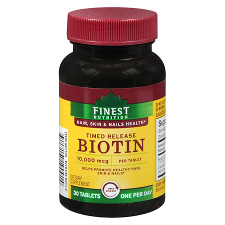 Finest Nutrition Biotin 10000 mcg Tablets Time Released - 30 ea