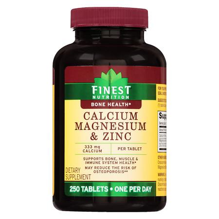 Finest Nutrition Calcium Magnesium Zinc Tablets - 250 ea