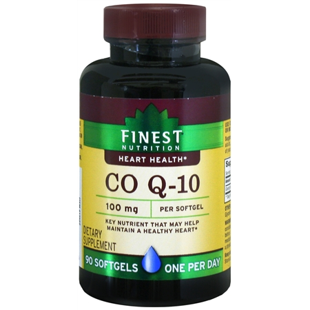 Finest Nutrition Co Q-10 100 mg Dietary Supplement Softgels - 90 ea