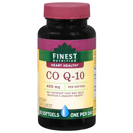 Finest Nutrition Co Q-10 400 mg Dietary Supplement Softgels - 30 ea