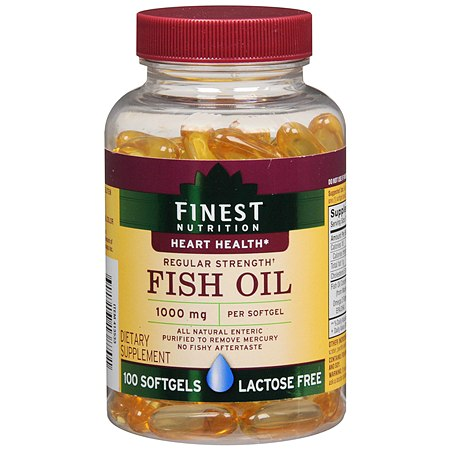 Finest Nutrition Fish Oil 1000 mg Dietary Supplement Softgels - 100 ea