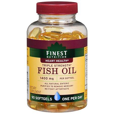 Finest Nutrition Fish Oil 1400mg Softgels - 90 ea