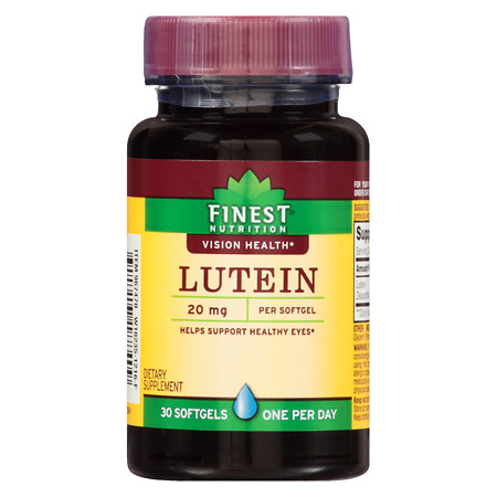 Finest Nutrition Lutein 20 mg Softgels - 30 ea