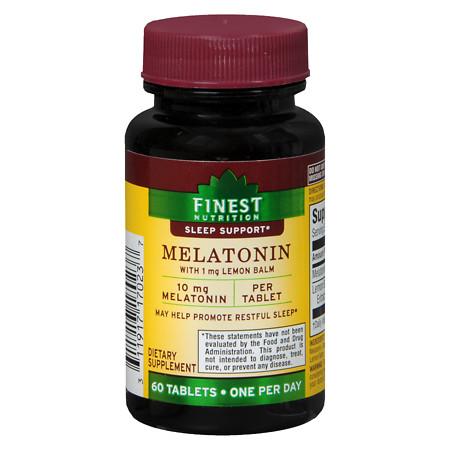 Finest Nutrition Melatonin 10mg, Tablets - 60 EA