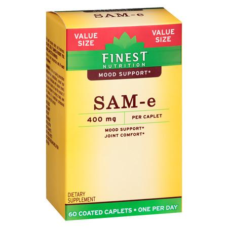 Finest Nutrition SAM-e Double Strength 400 mg Caps - 60 ea