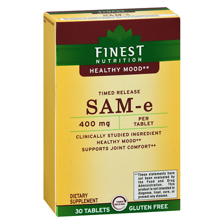 Finest Nutrition SAM-e Time Release 400 mg - 30 ea