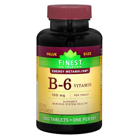 Finest Nutrition Vitamin B6 100mg, Tablets - 300 ea