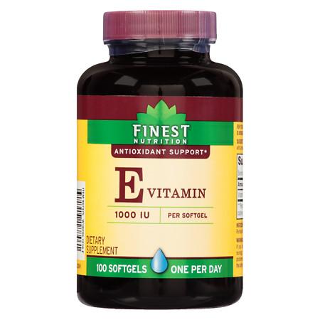 Finest Nutrition Vitamin E 1000 IU Softgels - 100 ea
