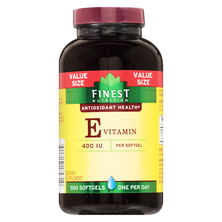 Finest Nutrition Vitamin E VS 400 IU Softgels - 500 ea