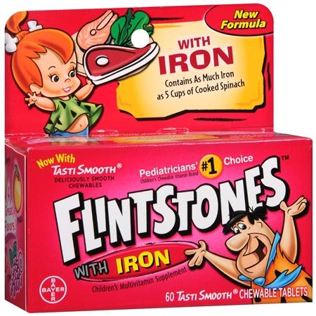 Flintstones Children's Multivitamin Supplement With Iron Chewable Tablets Orange - 60 ea