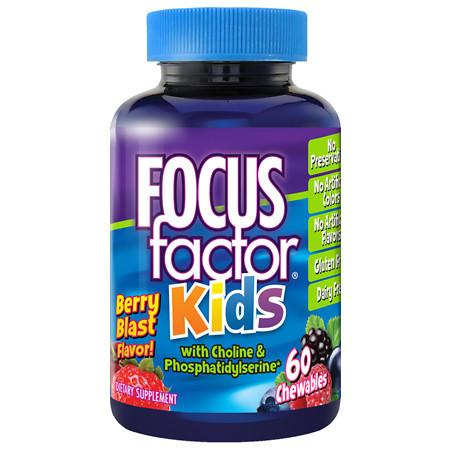 Focus Factor for Kids Brain Health Dietary Supplement Chewable Wafers - 60 ea
