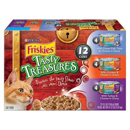 Friskies Tasty Treasures Cat Food Variety Pack - 6 oz.