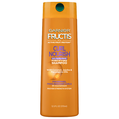 Garnier Fructis Curl Nourish Fortifying Shampoo, For Defined, Frizz-Resistant Curls - 12.5 oz.