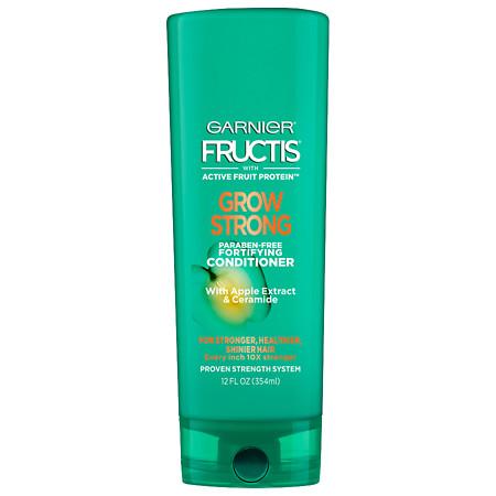 Garnier Fructis Grow Strong Conditioner, For Stronger, Healthier, Shinier Hair - 12 oz.