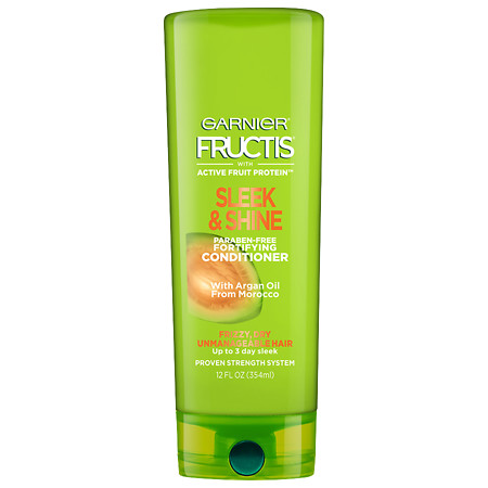 Garnier Fructis Sleek & Shine Conditioner, Frizzy, Dry, Unmanageable Hair - 12 oz.