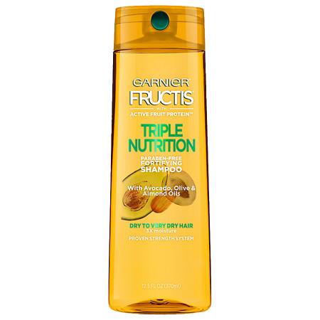 Garnier Fructis Triple Nutrition Shampoo, Dry to Very Dry Hair - 12.5 oz.