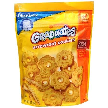 Gerber Graduates Arrowroot Cookies Pouch - 5.5 oz.