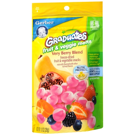 Gerber Graduates Fruit & Veggie Melts Very Berry Blend - 1 oz.