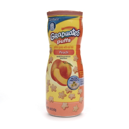 Gerber Graduates Puffs Cereal Snack Peach - 1.48 oz.