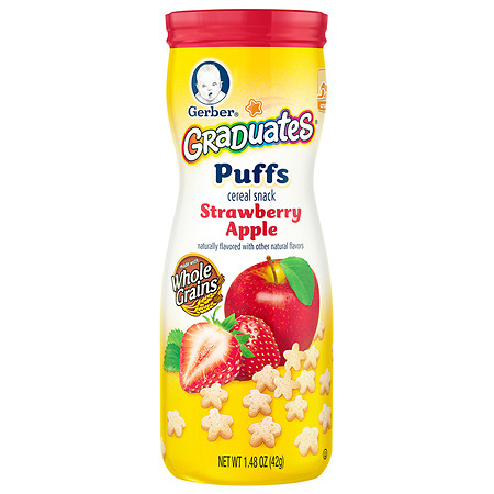 Gerber Graduates Puffs Cereal Snack Strawberry-Apple - 1.48 oz.