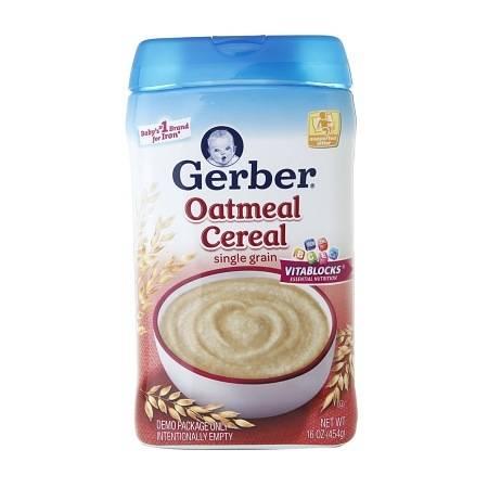 Gerber Oatmeal Cereal Single Grain - 16 oz.