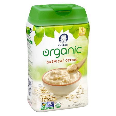 Gerber Organic Oatmeal Whole Grain Cereal - 8 oz.