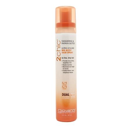 Giovanni 2chic Tangerine & Papaya Butter Ultra Volume Big Body Hair Spray - 5 fl oz