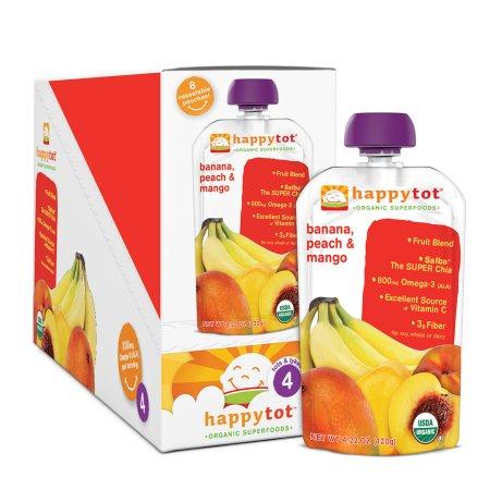 Happy Tots Organic Superfoods Banana, Peach & Mango - 4.22 oz.