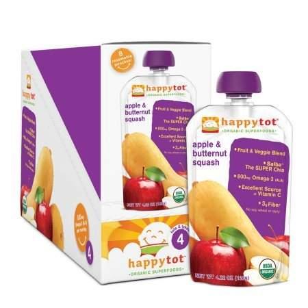 Happy Tots Organic Superfoods Butternut Squash & Apple - 4.22 oz.