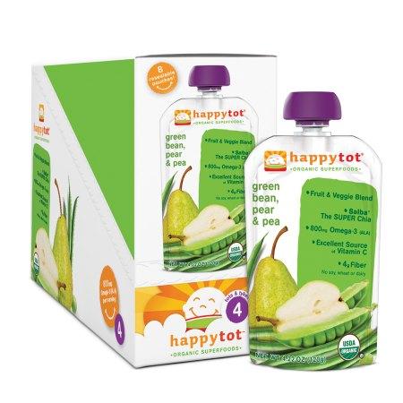 Happy Tots Organic Superfoods Green Bean, Pear & Peas - 4.22 oz.