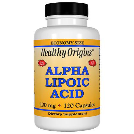 Healthy Origins Alpha Lipoic Acid 100 mg, Capsules - 120 ea