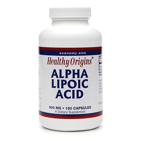 Healthy Origins Alpha Lipoic Acid, 600mg, Capsules - 150 ea